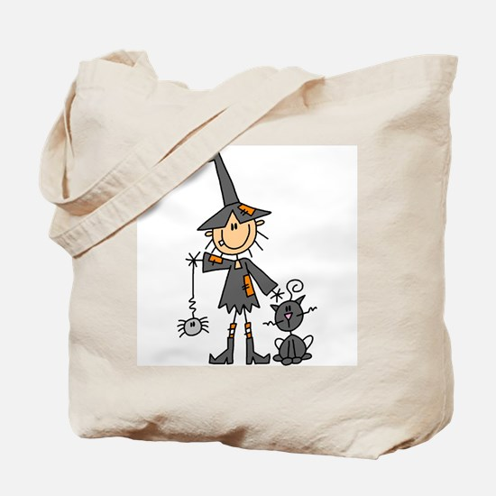 Witch and Cat Tote Bag