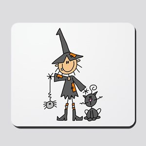Witch and Cat Mousepad