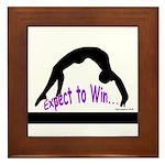 Gymnastics Framed Tile - Win