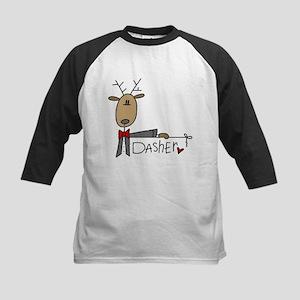 Dasher Reindeer Kids Baseball Jersey