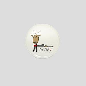 Dasher Reindeer Mini Button