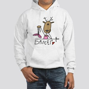 Dancer Reindeer Hooded Sweatshirt