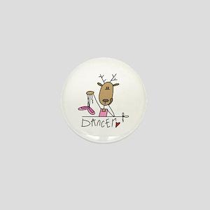 Dancer Reindeer Mini Button