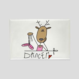 Dancer Reindeer Rectangle Magnet