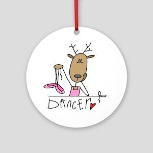 Dancer Reindeer Ornament (Round)