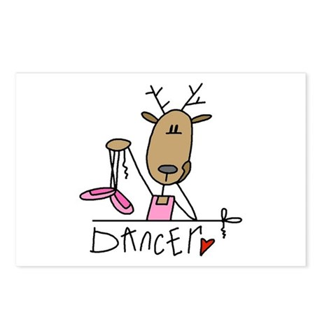 Dancer Reindeer Postcards (Package of 8)