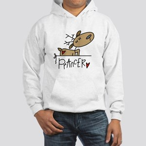 Prancer Reindeer Hooded Sweatshirt