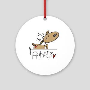 Prancer Reindeer Ornament (Round)