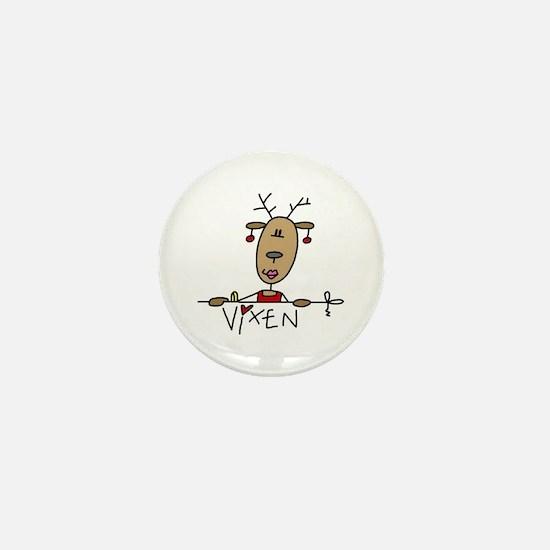 Vixen Reindeer Mini Button