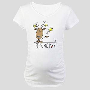 Comet Reindeer Maternity T-Shirt