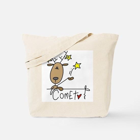 Comet Reindeer Tote Bag
