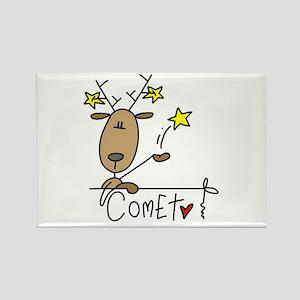 Comet Reindeer Rectangle Magnet