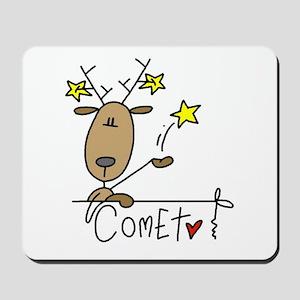 Comet Reindeer Mousepad
