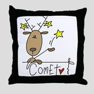 Comet Reindeer Throw Pillow
