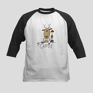 Cupid Reindeer Kids Baseball Jersey