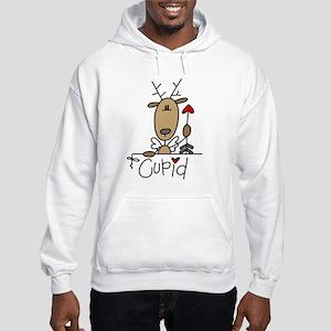 Cupid Reindeer Hooded Sweatshirt
