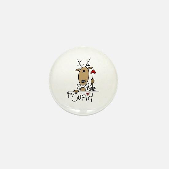 Cupid Reindeer Mini Button