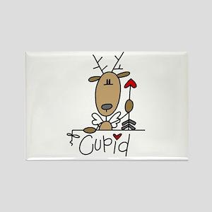 Cupid Reindeer Rectangle Magnet