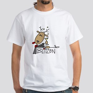 Blitzen Reindeer White T-Shirt