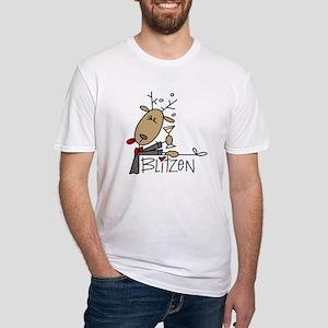 Blitzen Reindeer Fitted T-Shirt