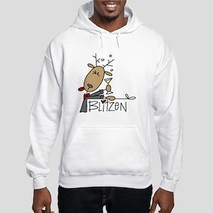 Blitzen Reindeer Hooded Sweatshirt