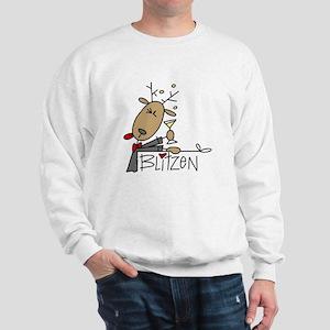 Blitzen Reindeer Sweatshirt