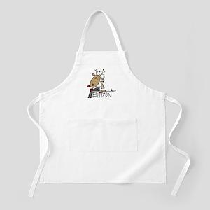 Blitzen Reindeer BBQ Apron