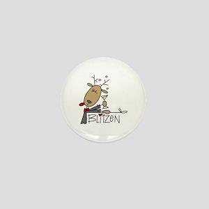 Blitzen Reindeer Mini Button