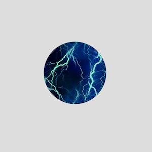 Cyan Lightning Look Mini Button