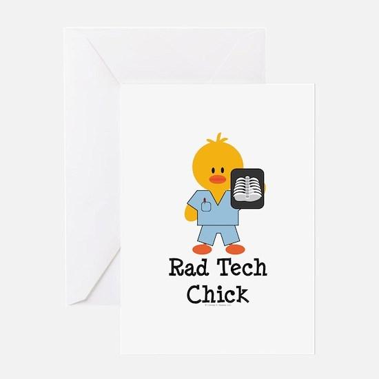 Rad Tech Chick Greeting Card