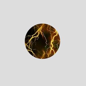 Gold Lightning Look Mini Button