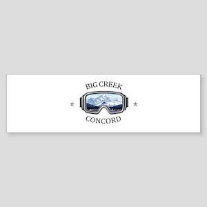 Big Creek Ski Area - Concord - Oh Bumper Sticker