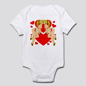 Pinup Girls Hearts Tattoo Infant Bodysuit