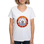 USS Kileuea (AE 26) Women's V-Neck T-Shirt