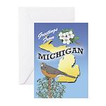 MICHIGAN Greeting Cards 01 (Pk of 20)
