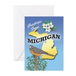MICHIGAN Greeting Cards 01 (Pk of 10)