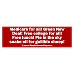 Gullible Sheep Call Sticker (Bumper)
