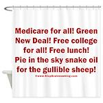 Gullible Sheep Call Shower Curtain