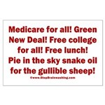 Gullible Sheep Call Large Poster
