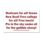 Gullible Sheep Call Car Magnet 20 x 12