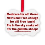 Gullible Sheep Call Picture Ornament