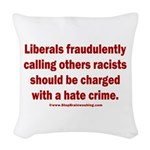 Racism Hate Crime Woven Throw Pillow