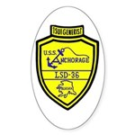 USS Anchorage (LSD 36) Oval Sticker (50 pk)