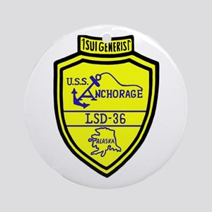 USS Anchorage (LSD 36) Ornament (Round)