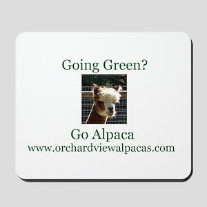 Going Green-Go Alpaca Mousepad