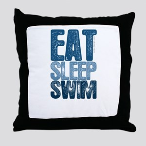 EAT SLEEP SWIM Throw Pillow