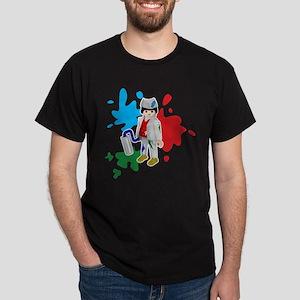 playmobil painter desing 1 Dark T-Shirt