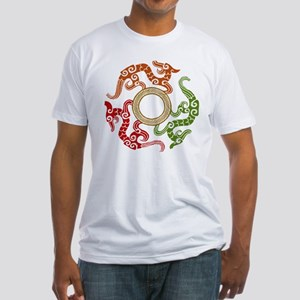 ancient chinese dragon design 3 Fitted T-Shirt