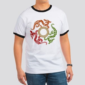 ancient chinese dragon design 3 Ringer T