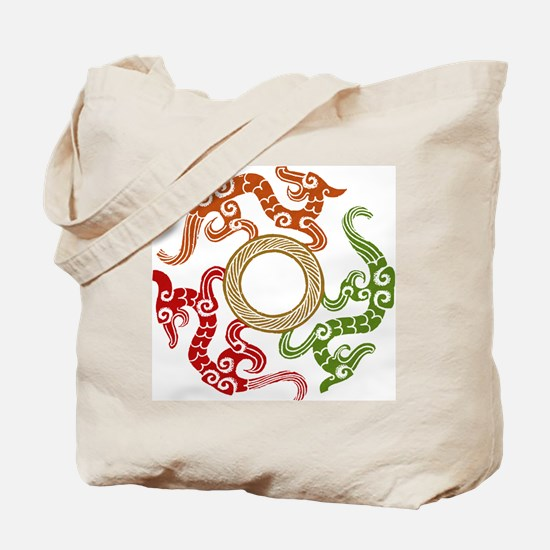 ancient chinese dragon design 3 Tote Bag